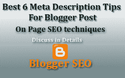 SEO Sevices Meta Description In Blogger Post with Best Example